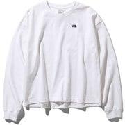 L/S Nuptse Cotton Tee NTW81934 (W)ホワイト Lサイズ [アウトドア カットソー レディース]