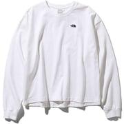 L/S Nuptse Cotton Tee NTW81934 (W)ホワイト Sサイズ [アウトドア カットソー レディース]
