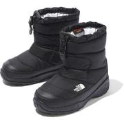 ヌプシブーティーウォータープルーフ K Nuptse Bootie WP NFJ51980 (KK)TNFブラック 22cm [防寒ブーツ キッズ]