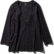 Tech Lounge Cardigan NTW11961 (K)ブラック Mサイズ [アウトドア カットソー レディース]