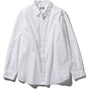 ロングスリーブノーザンハリアーシャツ L/S Northern Harrier Shirt NRW11953 (W)ホワイト Mサイズ [アウトドア シャツ レディース]