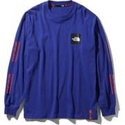 RAGE L/S Box Logo Tee NT31965 (AB)アズテックブルー Mサイズ [アウトドア カットソー メンズ]