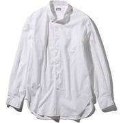 L/S Northern Harrier Shirt NR11953 (W)ホワイト Sサイズ [アウトドア シャツ メンズ]