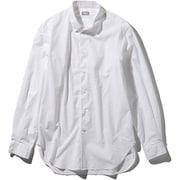 L/S Northern Harrier Shirt NR11953 (W)ホワイト Lサイズ [アウトドア シャツ メンズ]