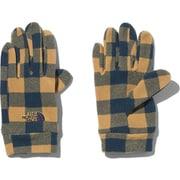 Kids Novelty Fleece Glove NNJ61706 BK Mサイズ [アウトドア グローブ キッズ]