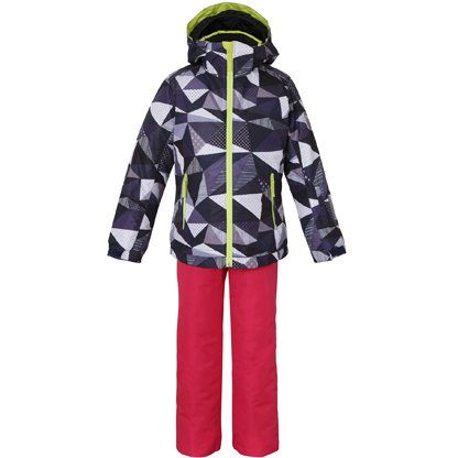 Snow Crystal Kids Two-piece PS7H22P75 NV 110cm [スキーウェア ジュニア]