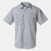 キャニオンソリッドショートスリーブシャツ OE7044 489_PHOENIX BLUE Sサイズ [アウトドア 半袖シャツ メンズ]