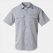 キャニオンソリッドショートスリーブシャツ OE7044 489_PHOENIX BLUE Mサイズ [アウトドア 半袖シャツ メンズ]