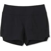 FLEX SHORT PANTS DB48351 (K)ブラック Lサイズ [トレーニングウェア ショートパンツ レディース]