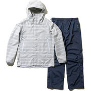 Scandza Helly Rain Suit HOE11700 (H1)ボーダーグレー WMサイズ [アウトドア レインウェア レディース]
