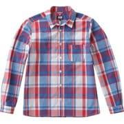 ロングスリーブ PE チェックシャツ W L/S PE CHECK SHIRT HOW41802 (TR)トリコロール WSサイズ [アウトドア シャツ レディース]