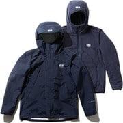 スカンザ3ウェイジャケット Scandza 3WAY Jacket HOE11877 (HB)ヘリーブルー XLサイズ [アウトドア 防水透湿ジャケット メンズ]