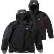 スカンザ3ウェイジャケット Scandza 3WAY Jacket HOE11877 (KO)ブラックオーシャン XLサイズ [アウトドア 防水透湿ジャケット メンズ]