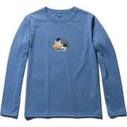 L/S DRY ANIMAL TEE HOE31951 (QB)クワイエットブルー WLサイズ [アウトドア カットソー 長袖 メンズ]