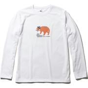 L/S DRY ANIMAL TEE HOE31951 (W)ホワイト Lサイズ [アウトドア カットソー メンズ]