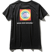 ショートスリーブレインボーサークルロゴTシャツ NTW31990 (K)ブラック Lサイズ [アウトドア カットソー レディース]