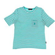ボーダークルー五分袖Tシャツ JT-CS285 グリーン×ベージュ Lサイズ [アウトドア カットソー レディース]