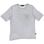 ボーダークルー五分袖Tシャツ JT-CS285 グレー×ホワイト LLサイズ [アウトドア カットソー レディース]