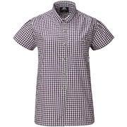 Ws SS Gingham Check Shirt 422834 P02_パープル XSサイズ [アウトドア シャツ レディース]
