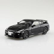 07-C 楽プラ NISSAN GT-R メテオフレークブラックパール [1/32スケール プラモデル]