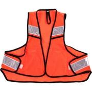 サイクル反射ベスト ポケット付き ネオンオレンジ フリーサイズ