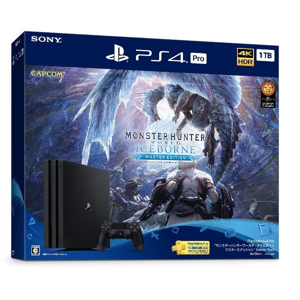 PlayStation 4 PRO MONSTER HUNTER: WORLD ICEBORNE Starter Pack 1TB Black (モンスターハンターワールド アイスボーン スターターパック) [CUHJ-10032]