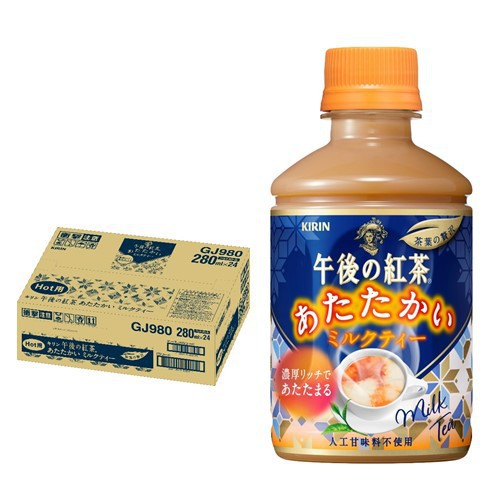 季節品 キリン 午後の紅茶 あたたかい ミルクティー PET 280ml×24本