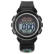 ACY19-BKS [CYBEAT ソーラー併用型デジタル時計 コンパス(方位磁石+)]