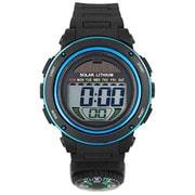 ACY19-BKBL [CYBEAT ソーラー併用型デジタル時計 コンパス(方位磁石+)]