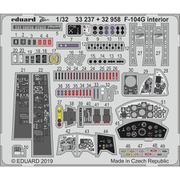 EDU33237 F-104G ズームエッチングパーツ イタレリ用 [1/32スケール エッチングパーツシリーズ]
