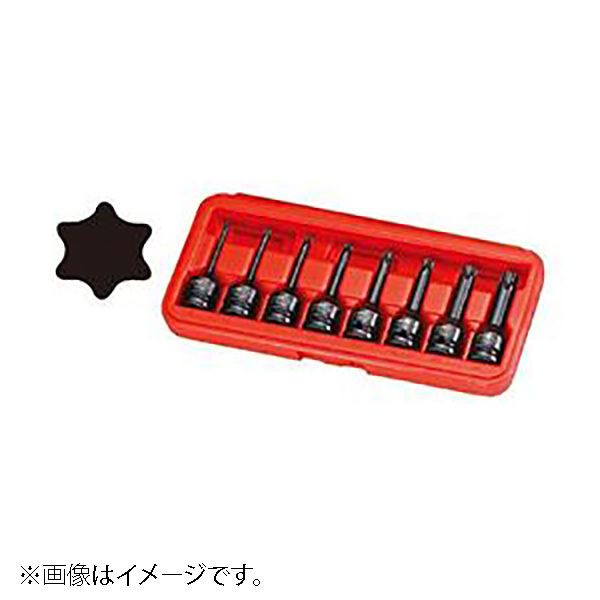 JTCJ408LT [12.7mmインパクト用ロングスターソケットセット]