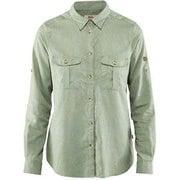Ovik Travel Shirt LS W 89843 516_Sage Green M [アウトドア シャツ]