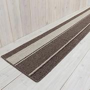 キッチンマット イーズ シナモン 45×180cm ブラウン