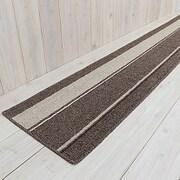 キッチンマット イーズ シナモン 45×252cm ブラウン