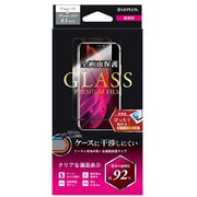 LP-IM19FGF [iPhone 11/XR ガラスフィルム「GLASS PREMIUM FILM」 ケースに干渉しない 全画面保護 超透明]