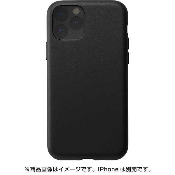 UNI-CSIP19S-1STBK [iPhone 11 Pro ケース Smooth Touch Hybrid Case black]
