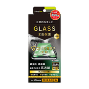 TR-IP19M-GM3-GOCCBK [iPhone 11/XR ゴリラガラス 立体成型シームレスガラス ブラック]