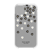KSIPH-131-SFLBW [iPhone 11 Protective Hardshell SCATTERED FLOWERS BK/WH/GG/CL]