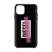 DIPH-032-BLKPT [iPhone 11 COMOLD CASE Black/Pink Slash]
