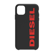 DIPH-029-STBR [iPhone 11 SOFT TOUCH COMOLD CASE Black/Red Logo]