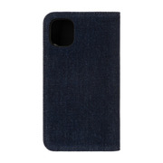 DIPH-038-DENVL [iPhone 11 2-PIECE FOLIO CASE Blue Denim/Black Denim White Diesel Logo]