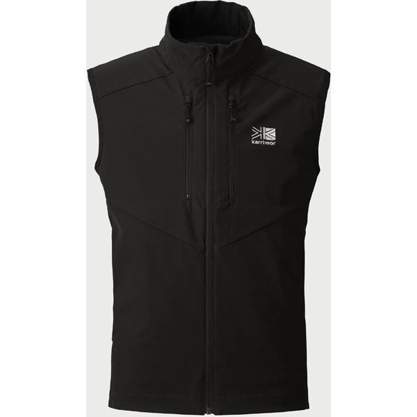 quest softshell vest 100718 Black Sサイズ [アウトドア ベスト ユニセックス]