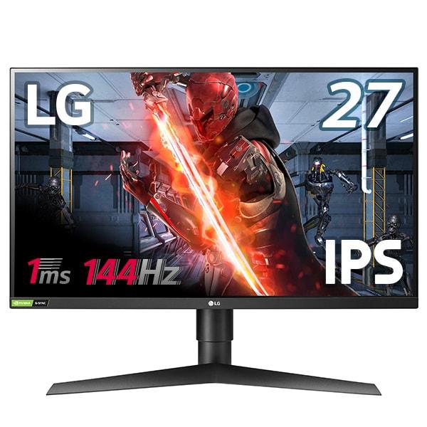 27GL83A-B [27型 LG UltraGear ゲーミングモニター(2560×1440)/応答速度1ms/ハーフグレア/144Hz/HDR10/FreeSync/G-SYNC Compatible認証取得/DASモード/高さ調整/ピポット/フリッカーセーフ]