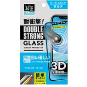 PG-19AGL07D [iPhone 11 Pro/XS用 3Dダブルストロングガラス ブルーライト低減]