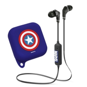 PG-BTE1SD05CTA [Bluetooth 4.1搭載 ワイヤレス ステレオ イヤホン シリコンポーチ付き キャプテン・アメリカ]