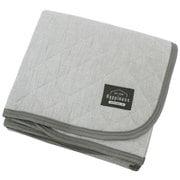 HPSP101-05 [洗いざらしでふんわりやわらか 綿100%の敷パッド グレイ シングルサイズ  約100cm×205cm]