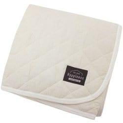 HPSP101-07 [洗いざらしでふんわりやわらか 綿100%の敷パッド アイボリー シングルサイズ  約100cm×205cm]