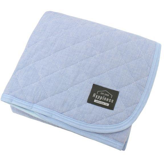 HPSP101-72 [洗いざらしでふんわりやわらか 綿100%の敷パッド ネイビー シングルサイズ  約100cm×205cm]