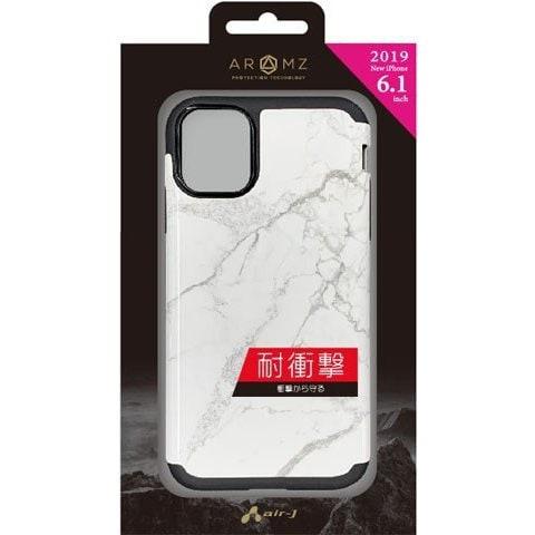 AC-P19M-GA WHM [iPhone 11 耐衝撃スリムバックカバーケース ホワイトマーブル]