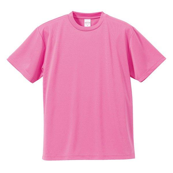 590001-0066 XXXXL [4.1オンス ドライアスレチック Tシャツ ピンク XXXXLサイズ]